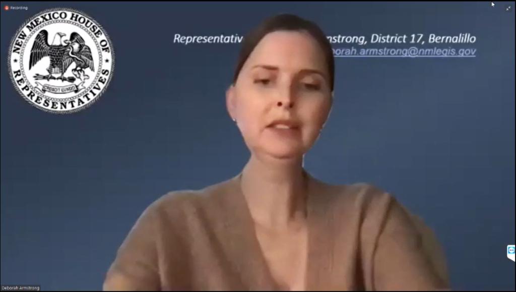 Screengrab of New Mexico MAID testimony